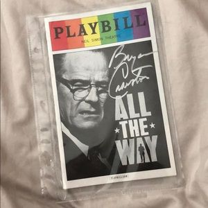 Other - Signed Bryan Cranston Pride Playbill